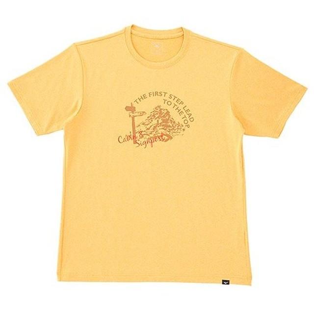 ミズノ(MIZUNO) ヘザーライトプリントTシャツ メンズ 43 A2JA6021 アウトドアウェア スポーツウエア キャンプ 半袖 トレーニング