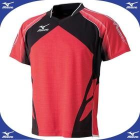 ゲームシャツ(2014年日本代表モデル) (62レッド)  MIZUNO ミズノ 卓球 ウエア (82JA400162)