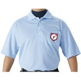 エスエスケイ(SSK) 審判用半袖ポロシャツ UPW027 パウダーブルー 野球 審判用品 ウエア
