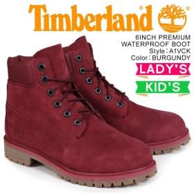 ティンバーランド Timberland レディース ブーツ 6インチ キッズ JUNIOR 6INCHI PREMIUM WATERPROOF BOOT A1VCK Wワイズ 防水 ワインレッド