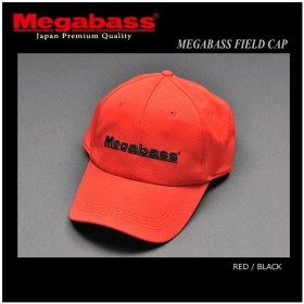 メガバス フィールドキャップ RED/BLACK (セール対象商品 9/17(火)12:59まで)