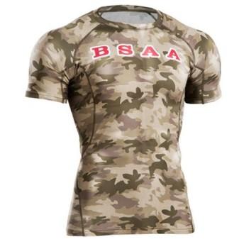 ボディメーカー(BODYMAKER) BIOHAZARD バイオハザード BSAA BM・GEARハーフスリーブ MG100 CF トレーニングウェア メンズ 半袖