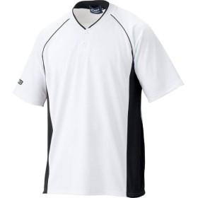 アシックス  プラクティスシャツ ホワイト×ブラック asicsBB BAD003.0190