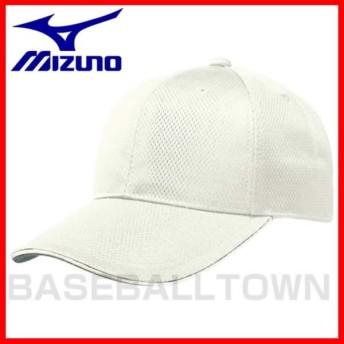 ミズノ 練習帽子 野球 オールメッシュ六方型 キャップ アイボリー 12JW4B0348 取寄