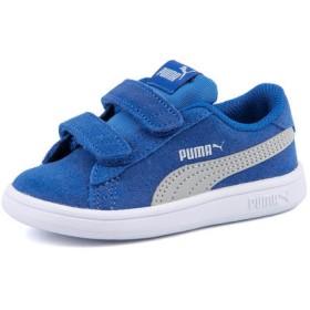 キッズ SALE!PUMA(プーマ) SMASH V2 SD V INFANT(スマッシュV2SDVインファント) 365178 11 ストロングブルー/グレーバイ スニーカー ファースト/ベビー