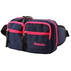 ニッタク(Nittaku) 卓球バッグ ハニカムポーチ ネイビー×ピンク NK7513 卓球 スポーツ 鞄 アクセサリー バッグ