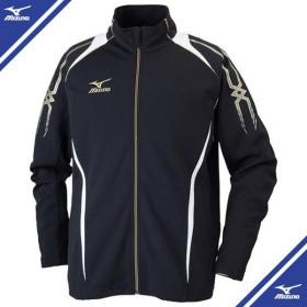ウォームアップシャツ (09ブラック×ホワイト)  MIZUNO ミズノ トレーニングウエア ウォームアップスーツ (32jc601009)
