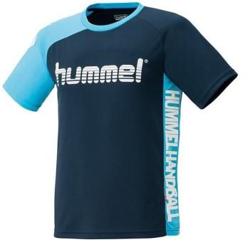 ヒュンメル(hummel) ハンドボールTシャツ ネイビー HAP1135H 70 ハンドボール トレーニングウェア 練習着 半袖 シャツ メンズ
