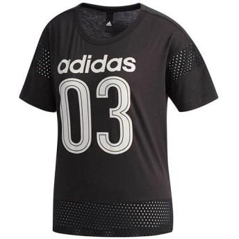 アディダス(adidas) レディース SID メッシュコンビTEE ブラック ETX94 CX4255 トレーニングウェア スポーツウェア 半袖 Tシャツ