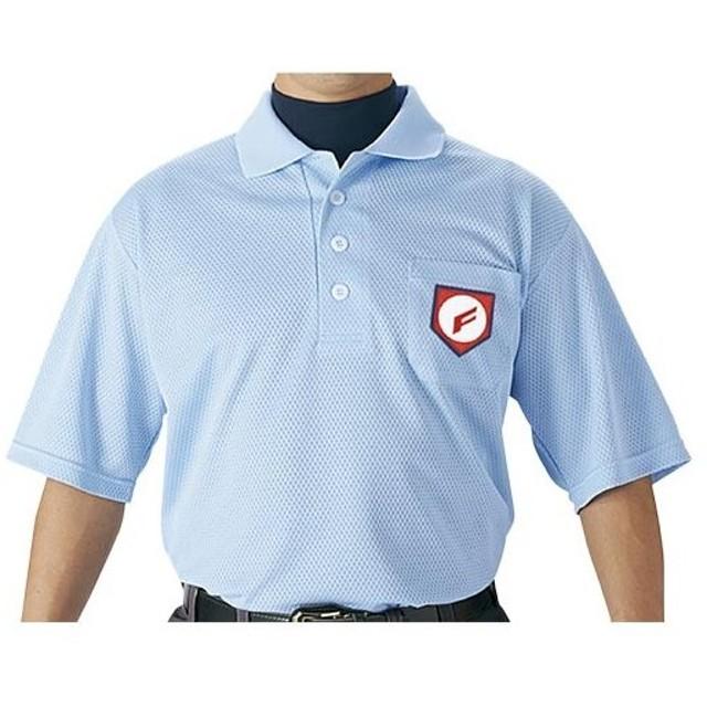 エスエスケイ(SSK) 審判用半袖ポロシャツ 65/パウダーブルー S 野球 審判用 ウエア