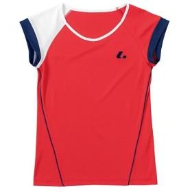 ルーセント(LUCENT) レディース テニス ゲームシャツ (襟なし) レッド XLH2281 RE テニスウェア ソフトテニスウェア トレーニングウェア