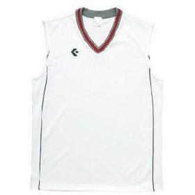コンバース(CONVERSE) 2F ジュニアゲームシャツ CB501701 ホワイト/ネイビー バスケットボール ウエア ジュニア