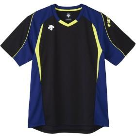 デサント 【メンズ バレーボール用ウェア】 半袖プラクティスシャツ ブラック DESCENTE DVB5723 BLK バレーボール ウエア シャツ