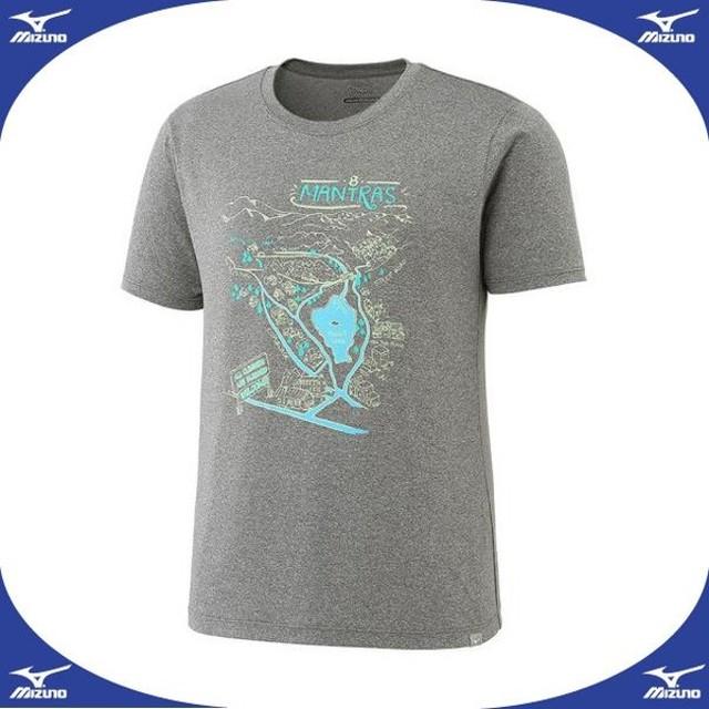 ヘザーライト半袖プリントTシャツ(レディース)  MIZUNO ミズノ アウトドア ウエア 長袖/半袖シャツ (A2JA7222)