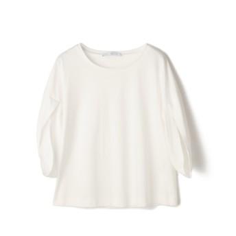 ESTNATION スムース袖ボリュームカットソー ホワイト/38(エストネーション)◆レディース Tシャツ/カットソー