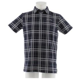 フィドラ(FIDRA) 【オンライン特価】ウェア メンズ チェック 半袖ポロシャツ FDA0315-NVY (Men's)