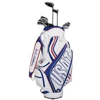 ユーエスアスリート(US Athletes) クラブセット 10本 キャディバッグ付き WH USCS-4716 ゴルフセット セット ゴルフ ゴルフ用品
