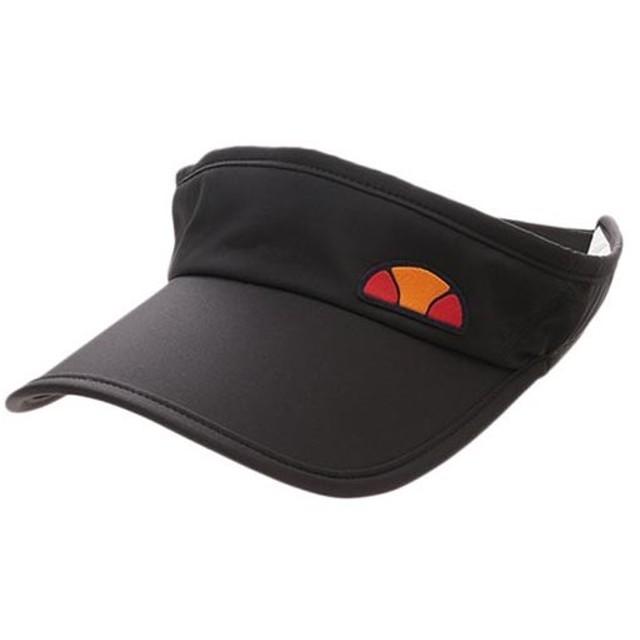 エレッセ(ellesse) バイザー ブラック EAC1631 K テニス用品 テニスキャップ サンバイザー 帽子 アクセサリー