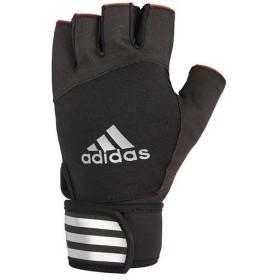 アディダス(adidas) エリート トレーニング グローブ レッド Mサイズ ADGB-14234 トレーニング用品 手袋 筋トレ ウエイトトレーニング オープンフィンガー