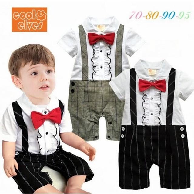 5e2d5fca07915 ベビー子供服0歳-2歳男の子兼用洋服タキシード フォーマルスーツ服 ...