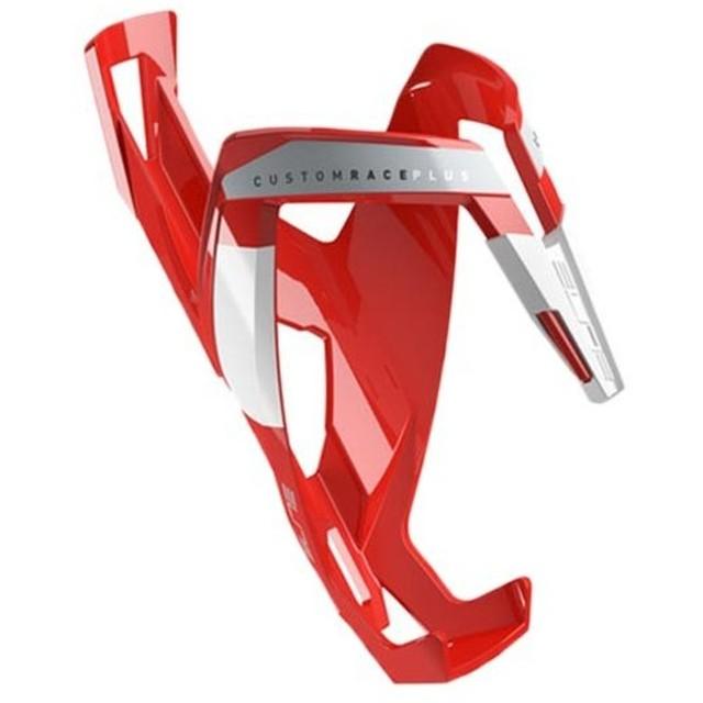 エリート(ELITE) CUSTOM RACE PLUS Glossy RED/WHT カスタムレース プラス ボトルケージ 2030001144647 自転車 サイクル ロードバイク クロスバイク 水筒