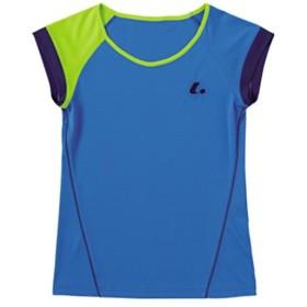 ルーセント(LUCENT) レディース ゲームシャツ (襟なし) ブルー XLH2287 テニスウェア ソフトテニス レディース 半袖シャツ