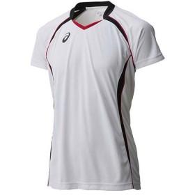 アシックス(asics) ゲームシャツHS XW1316 ホワイト×ブラック バレーボール トレーニングウェア 半袖