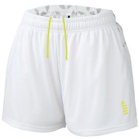 ゴーセン(GOSEN) レディース テニス 星柄ゲームパンツ ホワイト PP1801 30 テニスウェア バドミントンウェア ショートパンツ ボトムス