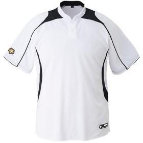 デサント(DESCENTE) ベースボールシャツ DB-110B SWBK/Sホワイト×ブラック 野球 ベースボール トップス ユニフォームシャツ