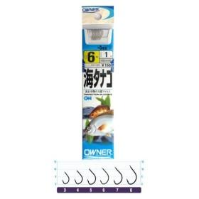 オーナー 糸付 海タナゴ 針6号−ハリス1号 白【ゆうパケット】