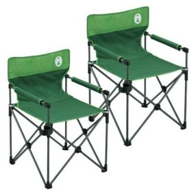 コールマン(Coleman) カップホルダー付きスリムチェア(グリーン) 2000010512 計2脚セット! キャンプ アウトドア おしゃれ 椅子 運動会