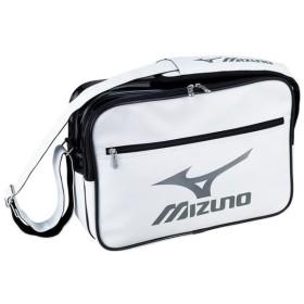 ミズノ エナメルバッグ(M) ホワイト×シルバー Mizuno 33JS601101 スポーツバッグ(汎用) エナメルバッグ
