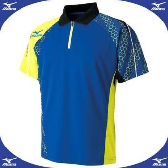 ゲームシャツ(2016年日本代表モデル) (25サーフブルー×ライムグリーン)  MIZUNO ミズノ 卓球 ウエア (82JA600325)
