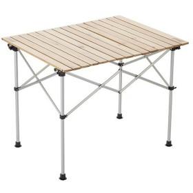 コールマン(Coleman) ナチュラルウッド ロールテーブル90 2000031290 キャンプ テーブル アウトドア バーベキュー 木製 定番商品
