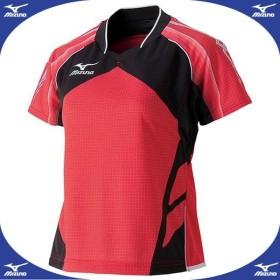 ゲームシャツ(2014年日本代表モデル)(レディース) (62レッド)  MIZUNO ミズノ 卓球 ウエア (82JA430162)