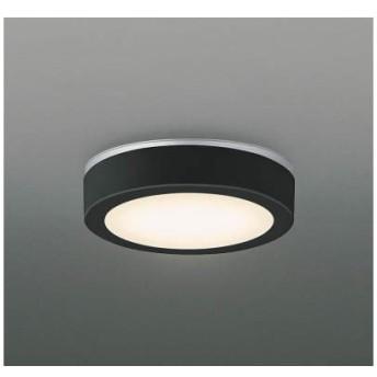 コイズミ AU41787L 黒 [洋風LED小型シーリングライト(電球色) 防雨・防湿型]
