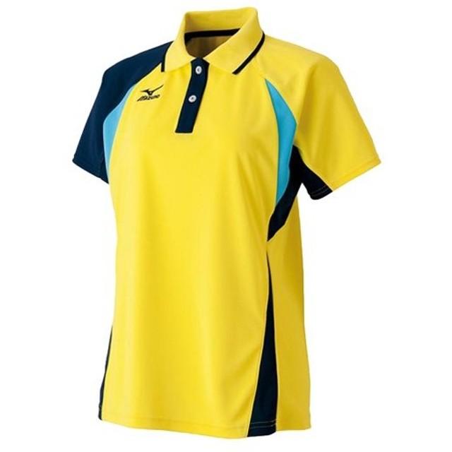 ミズノ(MIZUNO) レディース ゲームシャツ ブレイジングイエロー 62JA631344 ソフトテニスウェア 軟式テニス ポロシャツ Tシャツ