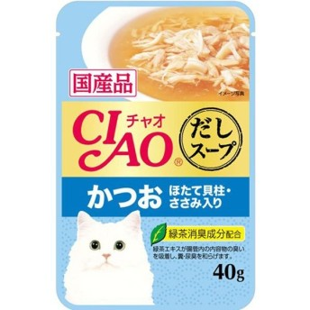 いなば チャオ だしスープ パウチ かつお 40G
