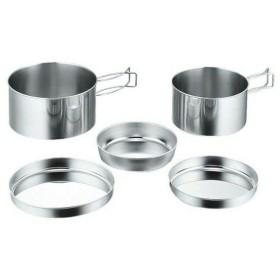 キャンプ 食器 セット ステンレス キャンピング食器5点セット(箱入) M7520 パール金属株式会社