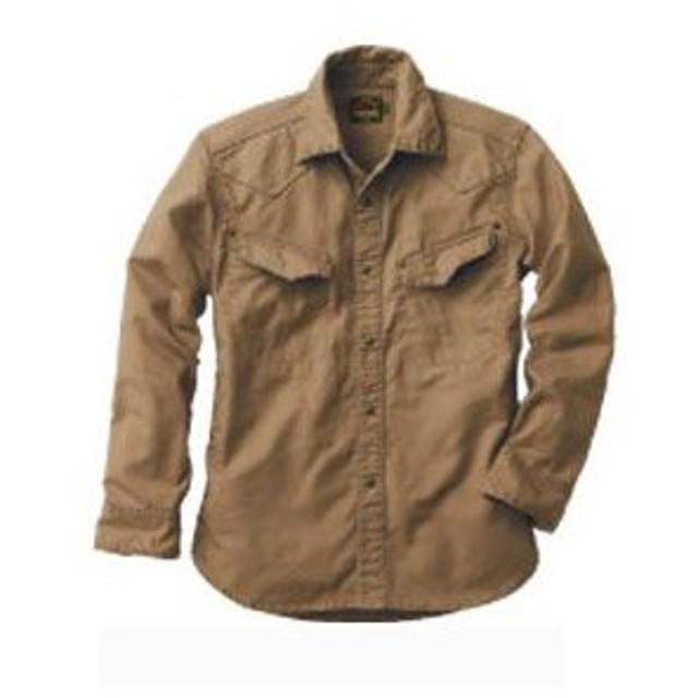 ジャーマンクロスシャツ US−506 ジャマンカーキ L