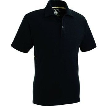 75114ZDストレッチ半袖ポロシャツ ブラック L