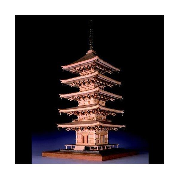 ウッディジョー 木製建築模型 「1/75 瑠璃光寺 五重塔」レーザー