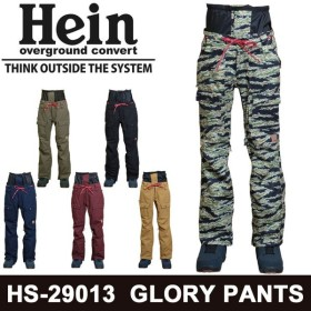 18-19 Hein スノーボードウェア GLORY PANTS [HS-29013] ヘイン パンツ ユニセックス スノーウエア