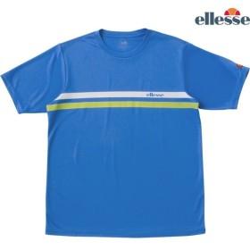 エレッセ Ellesse テニスウェア メンズ SS プラクティスクルーシャツ EM08305-PB 2018FW