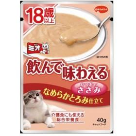 日本ペットフード ミオ レトルト 18歳以上 なめらかとろみささみ 40G