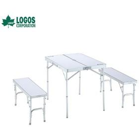 ベンチテーブルセット4-N ロゴス アウトドア キャンプ レジャー LOGOS