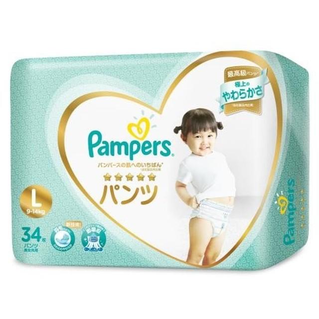 P&G パンパース 肌へのいちばんパンツ スーパージャンボ L 34枚