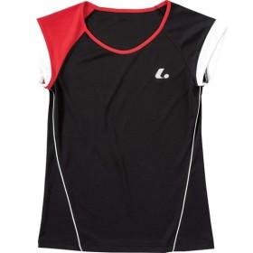 ルーセント LUCENT テニスウェア レディース ゲームシャツ(襟なし) ブラック XLH2289 2018SS[ポスト投函便対応]