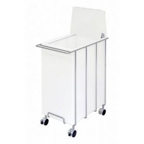 日本製 アクリル ダストボックス 45L ゴミ箱 ごみ箱 シンプル オシャレ キャスター付き 代引不可
