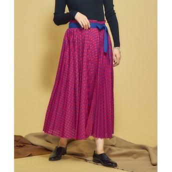 Abahouse Devinette / アバハウスドゥビネット チェックプリーツスカート